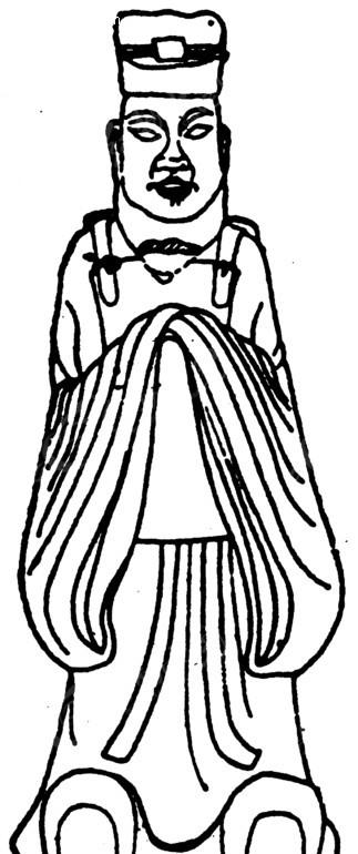 中国古典图案-双手作揖的古代官员