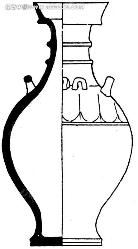 中国古代器物-瓶子状古物上的线条