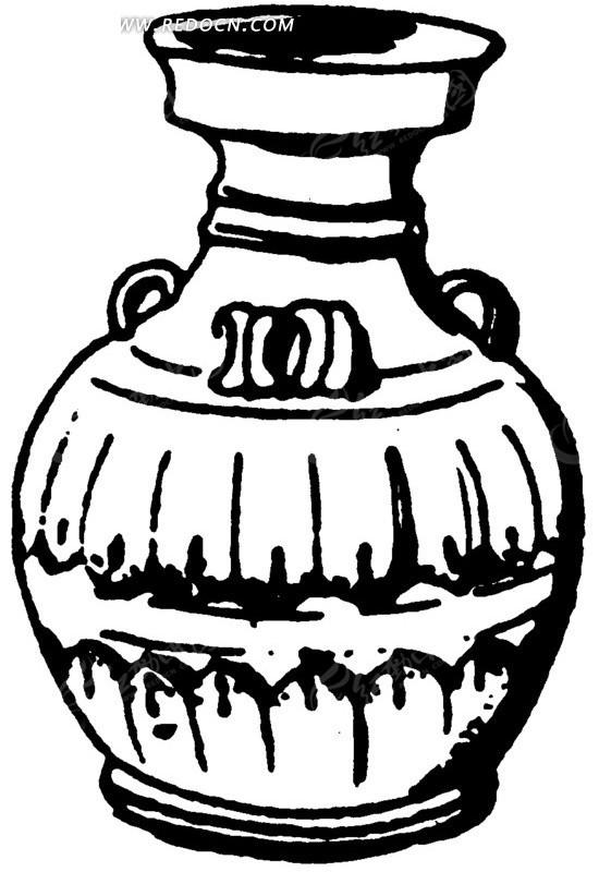 瓶子图案设计手绘图