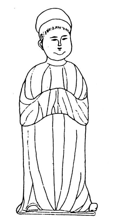 中国古代雕刻-简洁的女子的雕刻