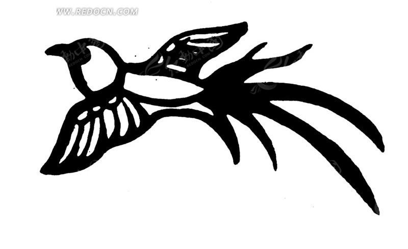仙鹤展翅简笔画