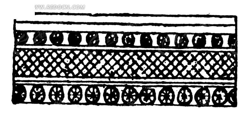 菱形圆形网格几何纹弦纹构成的手绘线描图AI素材免费下载 编号1507971 红动网