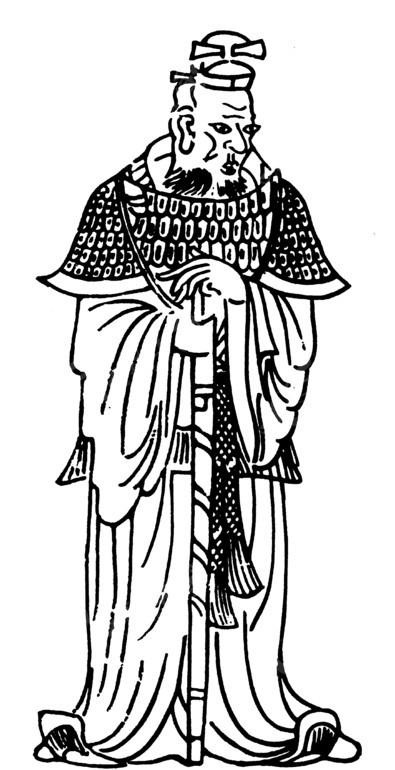 黑白图案 武官 古代人 中国风 中国古典 艺术 装饰 黑白 矢量素材