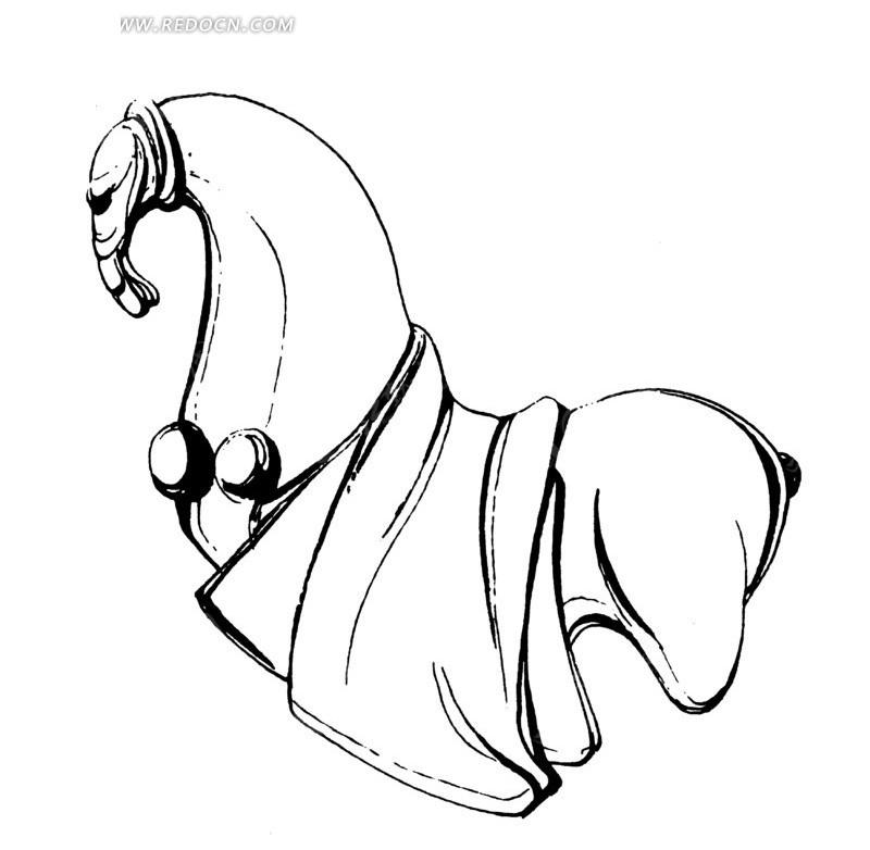大肉棒的愹ai_矢量手绘马匹线条图形ai素材免费下载_红动网