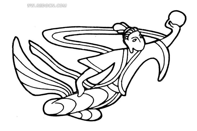 中国古典图案 手托月亮的嫦娥AI素材免费下载 编号1510095 红动网