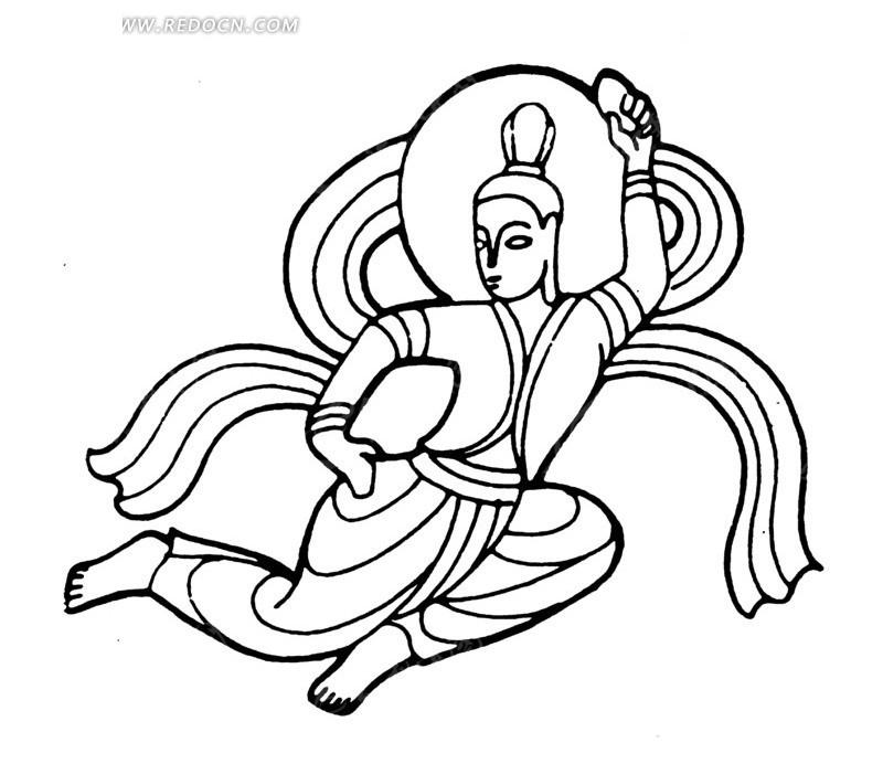 中国古典图案-嫦娥奔月