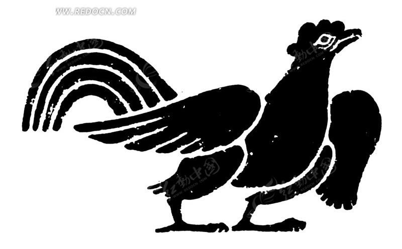 中国古典图案-公鸡图片