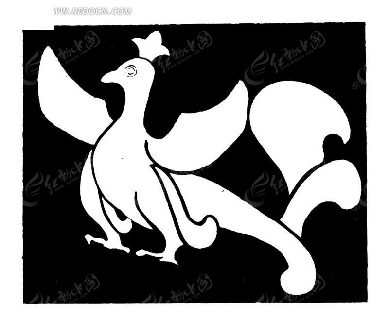 中国古典图案-神鸟矢量图_传统图案