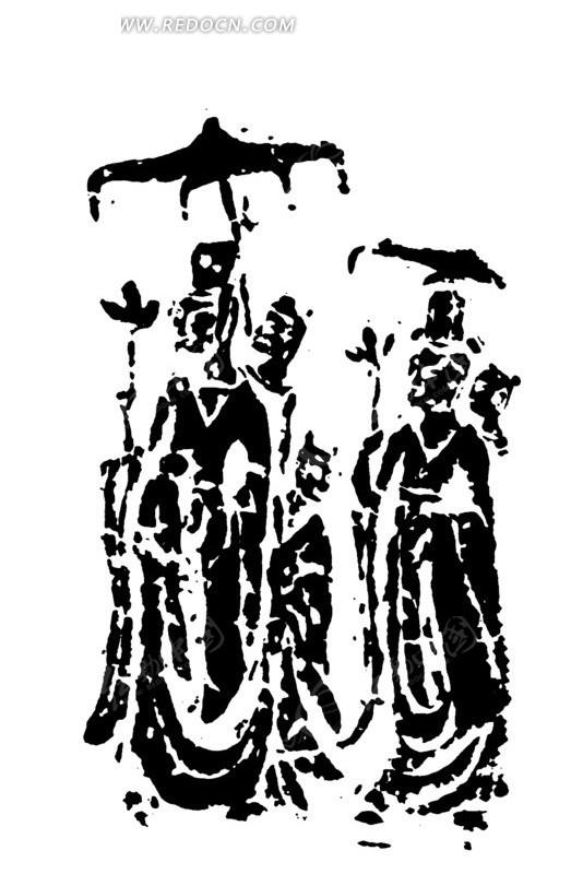 矢量文件 古代人物图形 佛教人物图形 传统图案 矢量素材图片