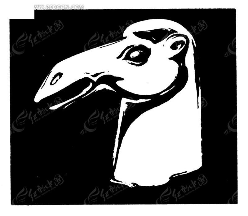 免费素材 矢量素材 艺术文化 传统图案 线描骆驼头像