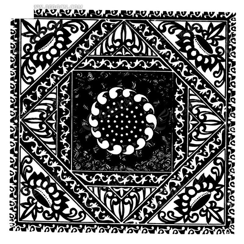 地毯矢量图_传统图案图片