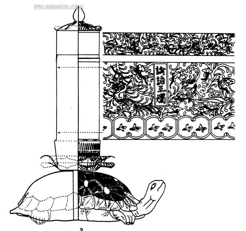 乌龟平面简笔画