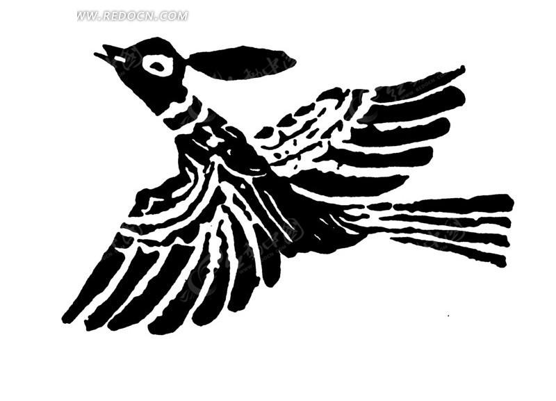 卡通燕子手绘图