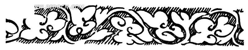 古代黑白花纹底纹图案矢量素材