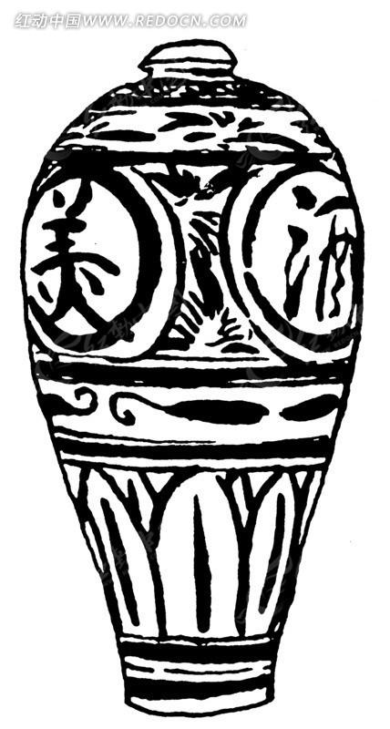 酒瓶手绘设计图