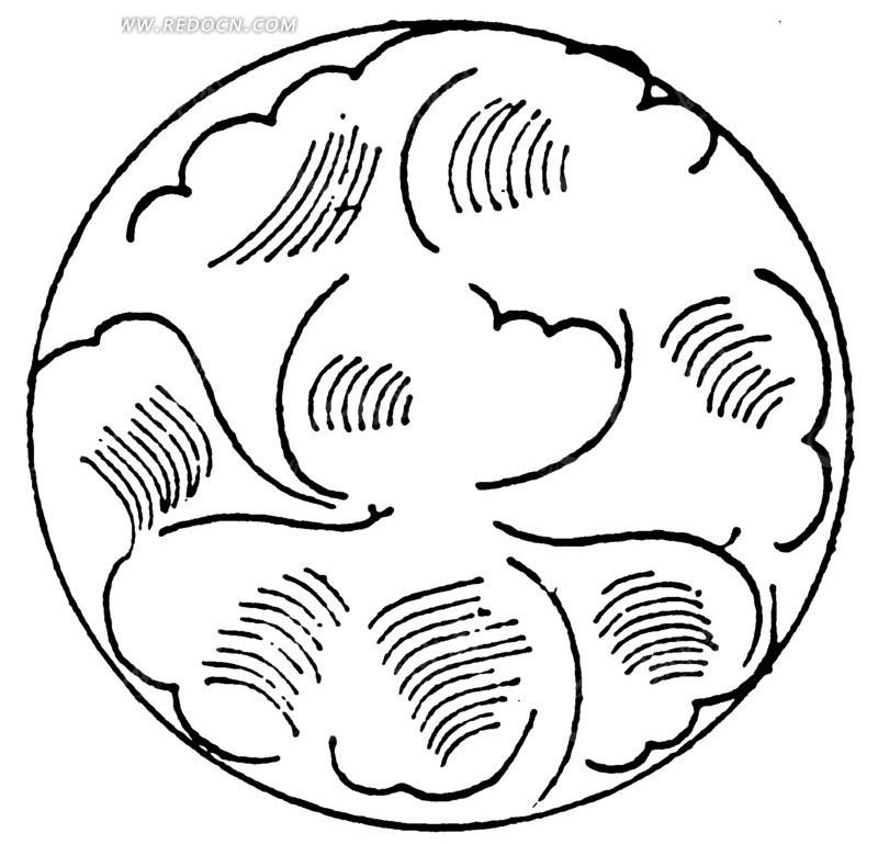 圆形花纹图案图片