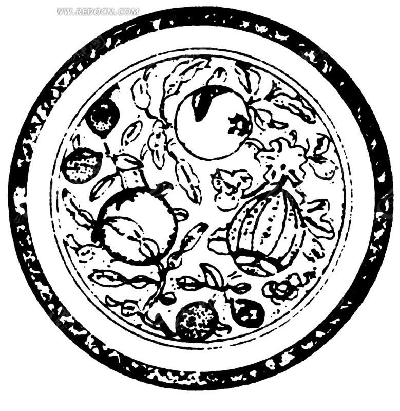 环形 圆形 黑白 图案 古典 文化 艺术 纹饰 装饰 纹样 ai矢量图 传统图片