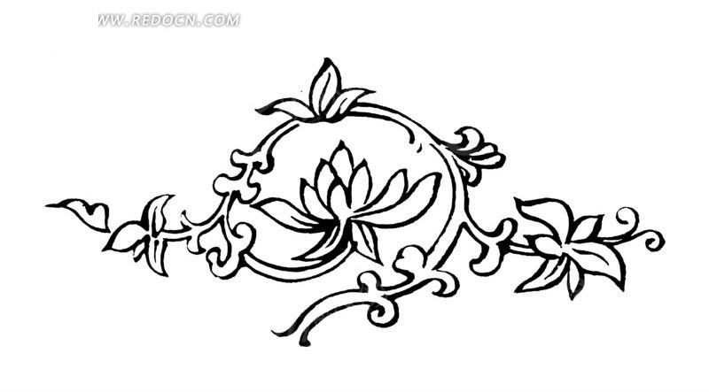 指甲花纹图案简单手绘