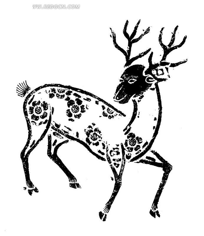一只梅花鹿图片