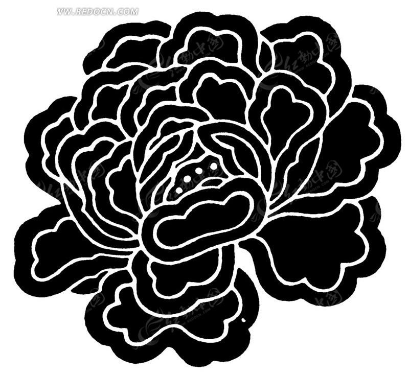 创意花朵花瓣线条图形