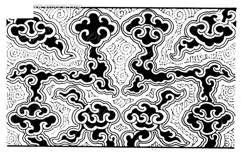 中国古典图案-云纹构成的精美图案图片