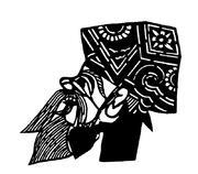 戏剧人物头像_皮影戏剧人物头像剪纸矢量图传统工艺品图片