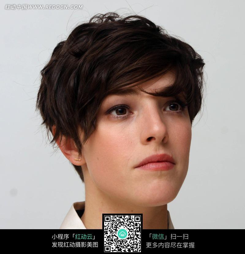 外国短发美女_女性女人图片图片