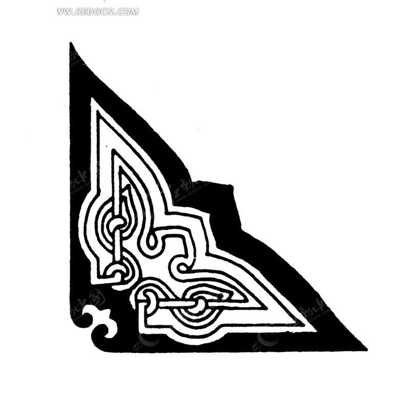 中国古典图案 线条和几何形构成的精美花边设计图片  (800x797); 中国图片