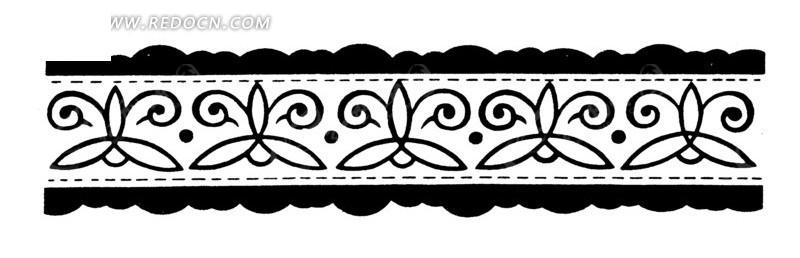 花卉二次连续纹样,散点式二次连续纹样,二次连续纹样剪纸