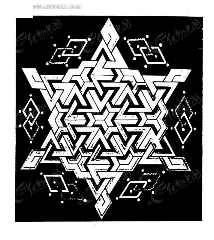 古典艺术矢量几何花纹素材