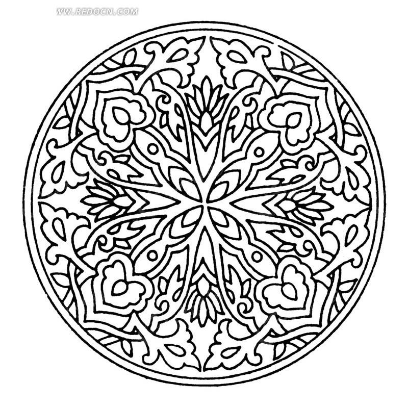 免费素材 矢量素材 艺术文化 传统图案 圆形中国传统花纹  请您分享