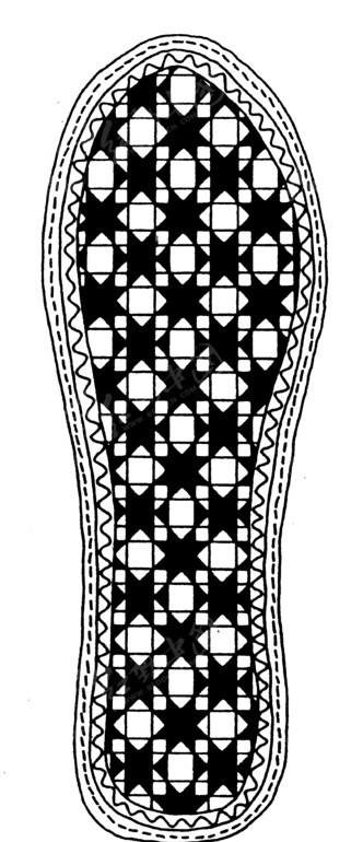 鞋垫花样纹饰设计图片; 鞋垫花样纹饰-传统图案|纹样矢量图下载(编号