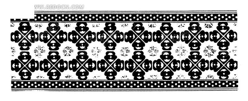 中国古典图案-几何形和线条构成的图案