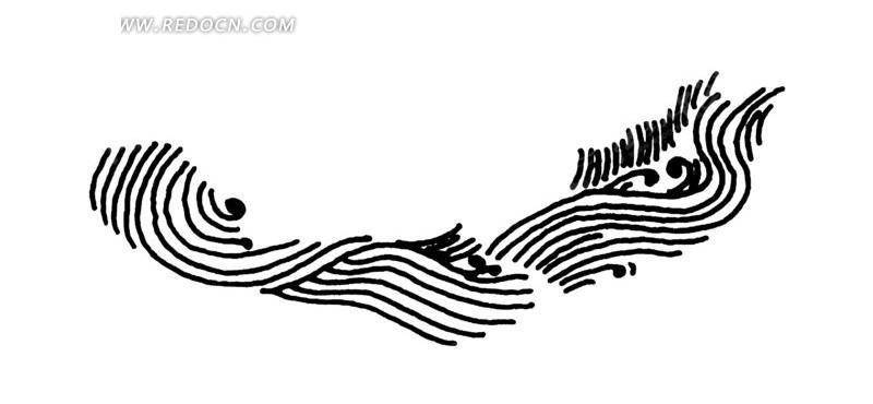 手绘起伏流水ai素材免费下载_红动网