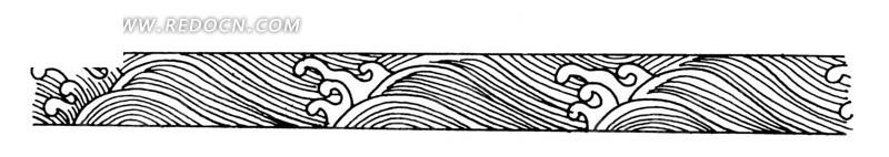 手繪水浪水波橫幅圖片