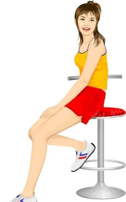 坐着椅子上的卡通人物ai免费下载_女性女人素材