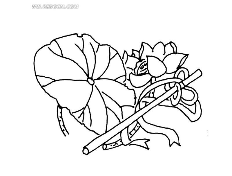 笛子手绘精美图片
