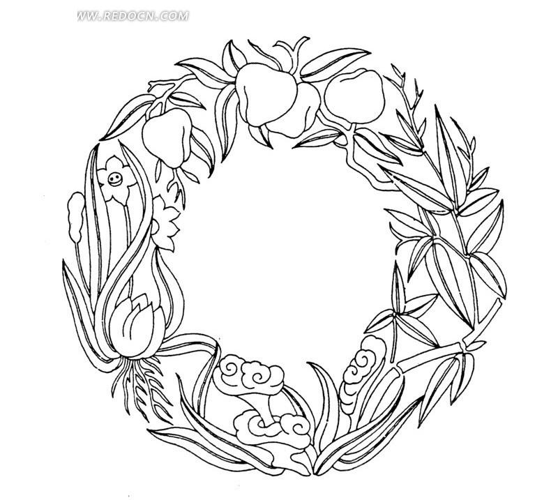 大肉棒的愹ai_中国古典图案-桃子灵芝竹叶矢量图ai免费下载_传统