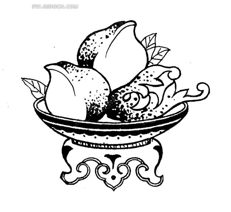 手绘古代器皿纹样
