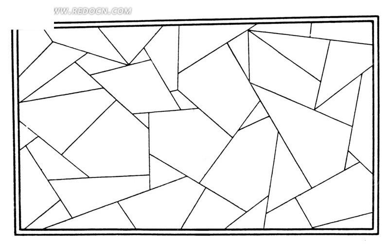 中国古典图案-几何形构成的长方形图案图片