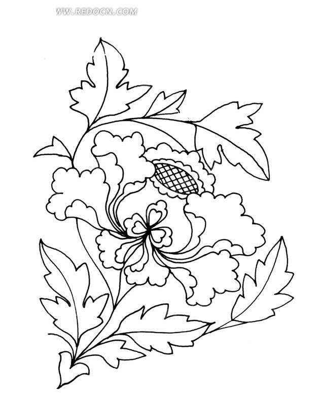 紫荆花矢量图_传统图案