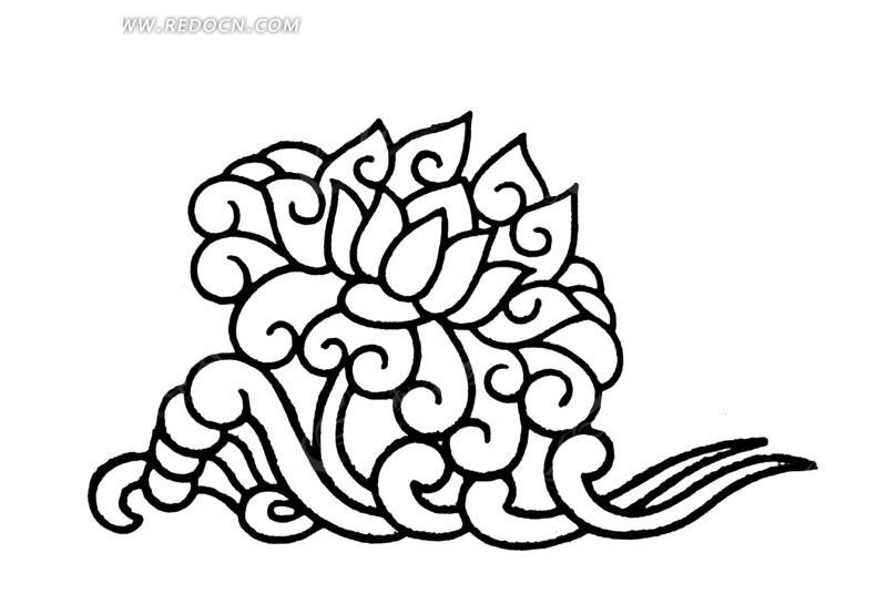 中国传统海浪手绘