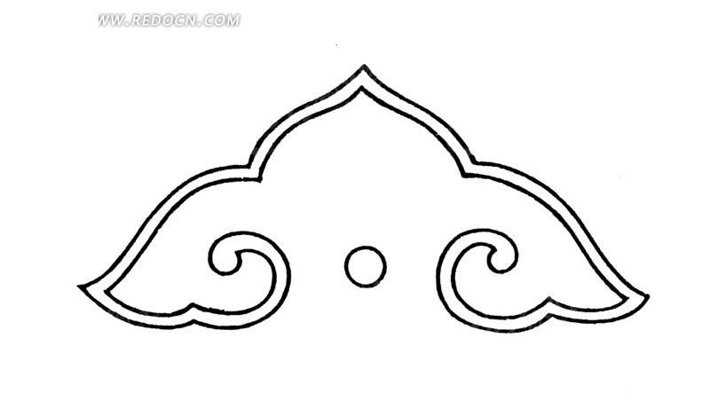 中国古典图案-如意纹构成的简单图案图片