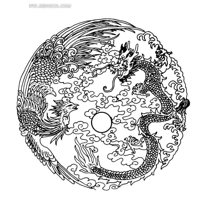 中国古典图案-龙凤呈祥