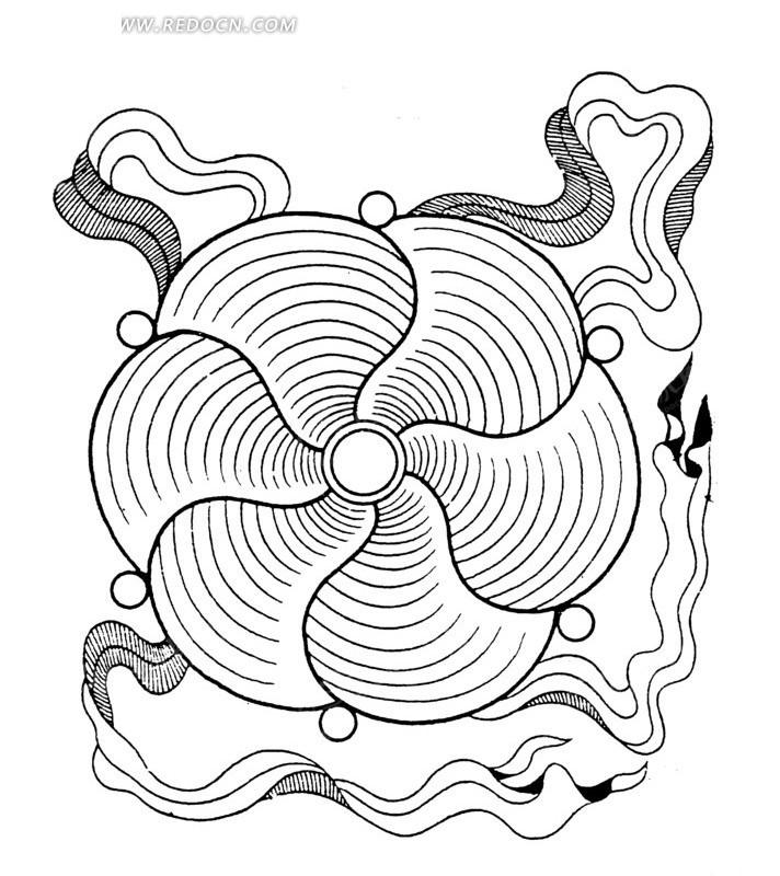 风扇商业插画手绘图片