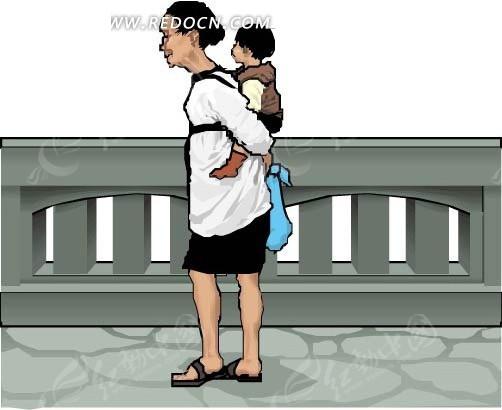 免费素材 矢量素材 矢量人物 卡通形象 妈妈背宝宝  请您分享: 红动网
