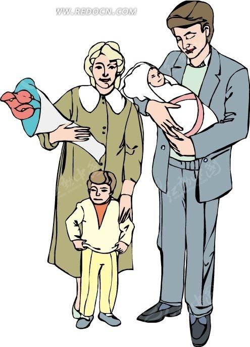 爸爸妈妈和孩子