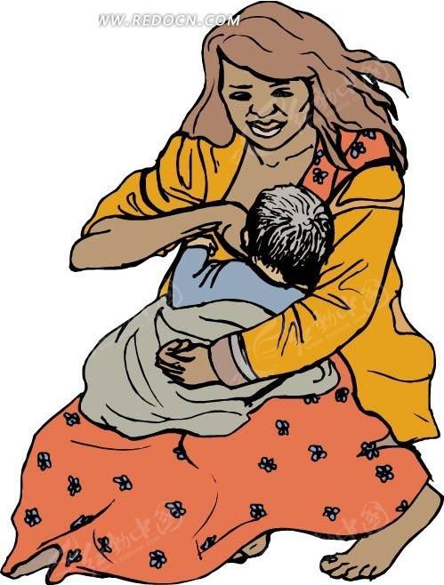 婴儿 妈妈 人物 人物素材 生活百科 矢量素材 eps 卡通人物 卡通人物