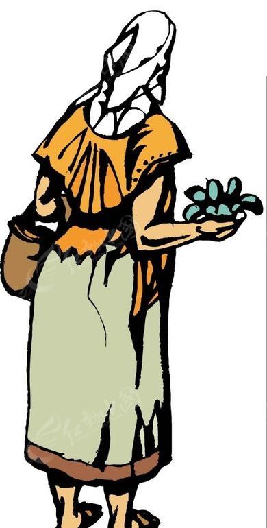 老妇伦囹�a�M_手拿菜苗的老妇