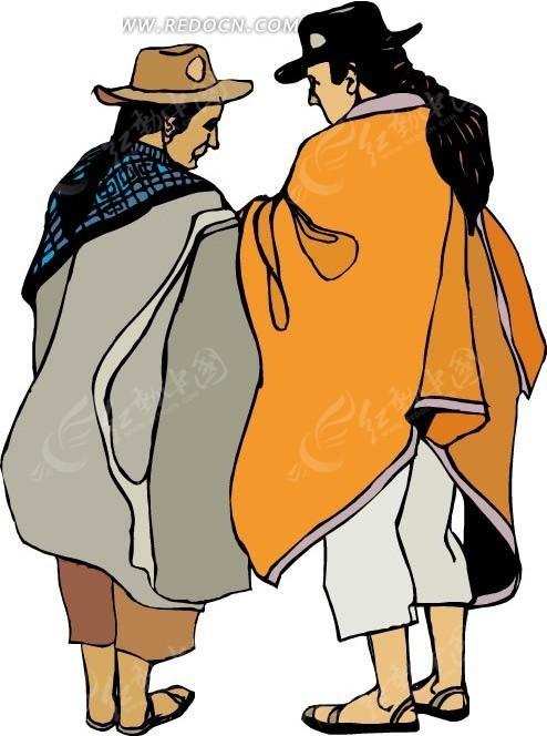 西藏男人矢量图_卡通形象